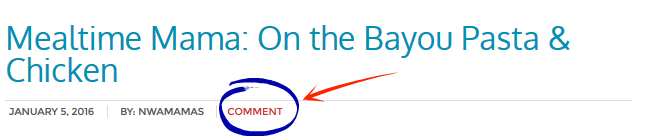 comment button circled