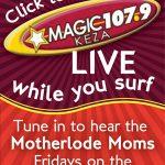 Radio: Mom Chat on Magic 107.9 Friday mornings