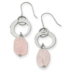 Chisel Rose Quartz Earrings