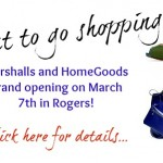Marshalls and HomeGoods Opening Today in Rogers!