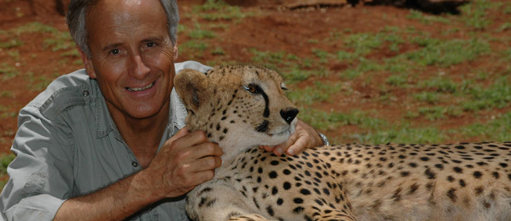 Jack Hanna with cheetah