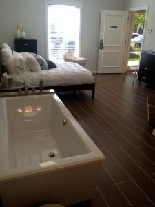 room with tub
