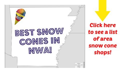 The best snow cone stands in Northwest Arkansas!