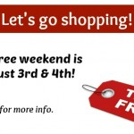 Tax-free weekend is August 3rd and 4th