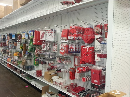party store, razorback stuff