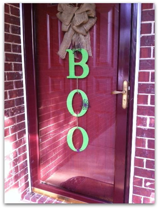 Boo front door
