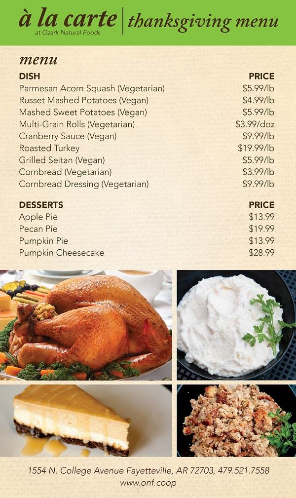 onf menu