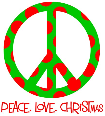 peace love christmas