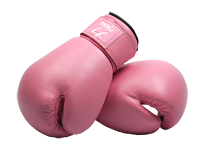 boxing gloves pink