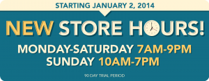 new store hours