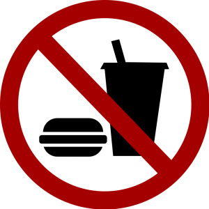no food or drinks
