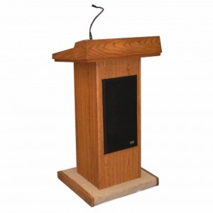 podium and microphone