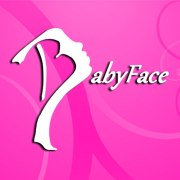 baby face logo in pink