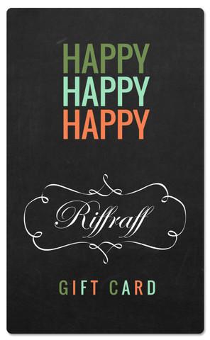 riffraff gift card