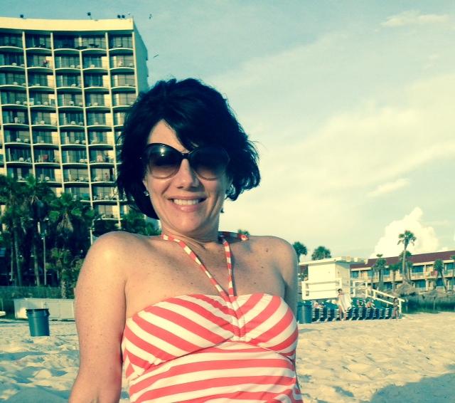 shan at the beach