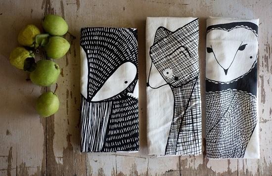 gingiber.tea towels
