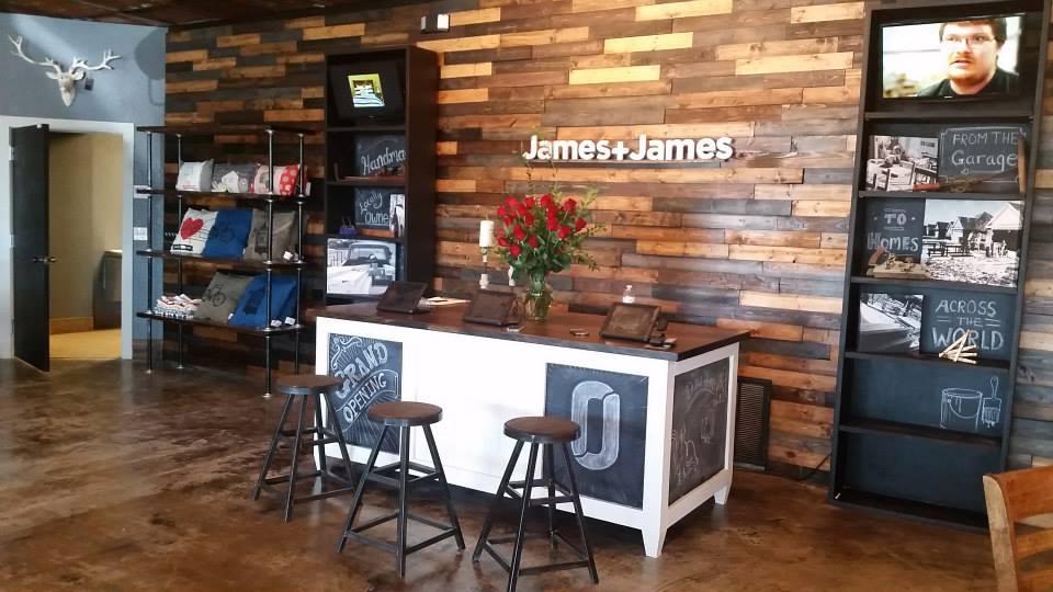 james inside store