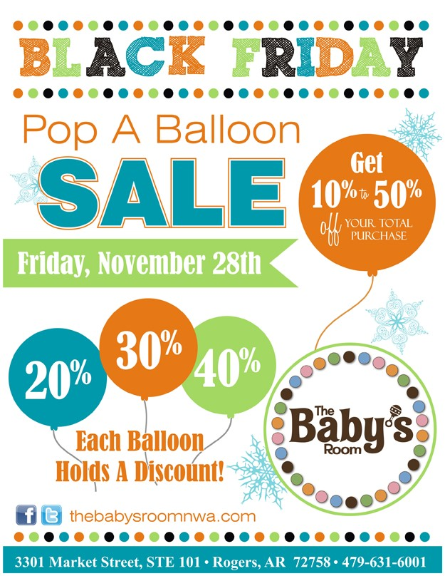babys room balloon sale