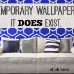 This new temporary wallpaper from James + James is so versatile {and gorgeous}!