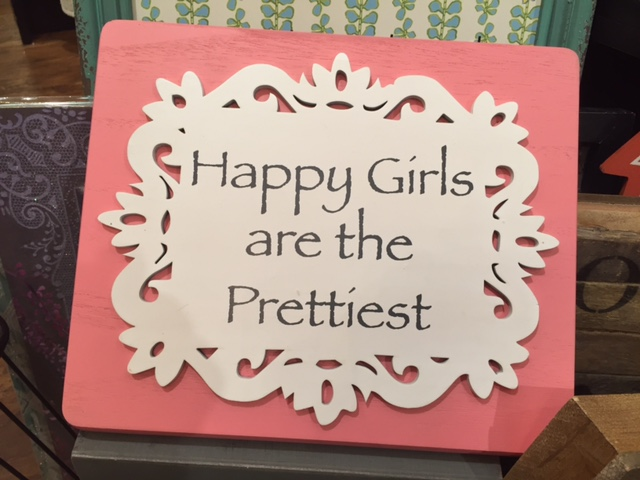 Francesca's pretty girls sign