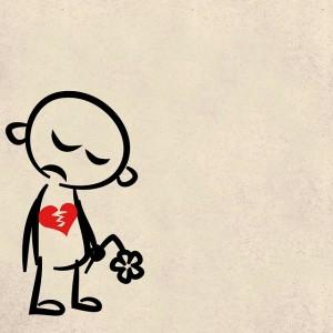 sad broken heart