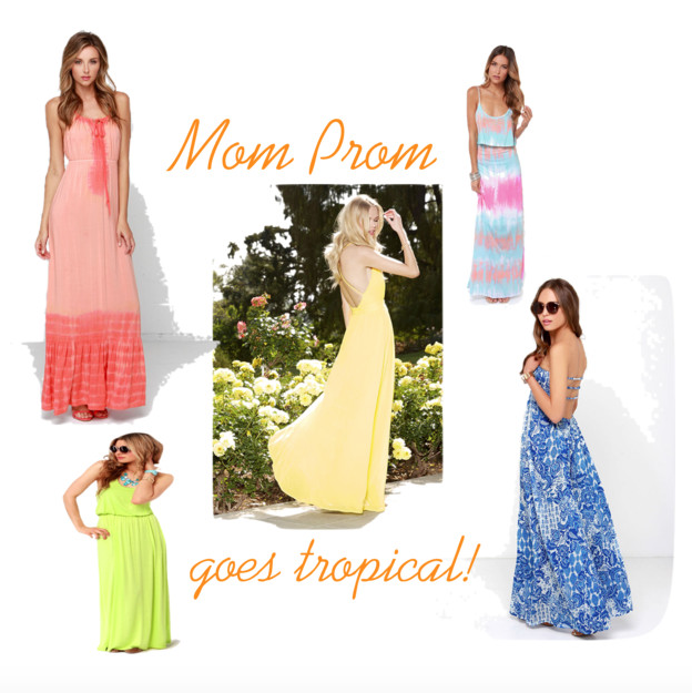 mom prom tropical