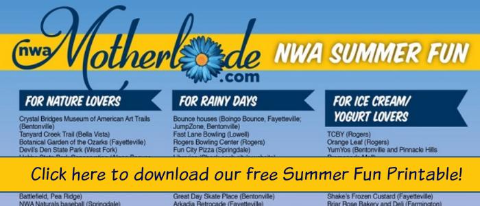 2015 Northwest Arkansas Summer Fun Printable!