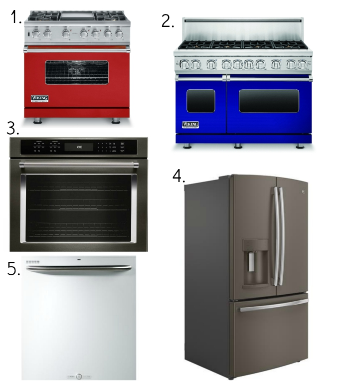appliance colors collage