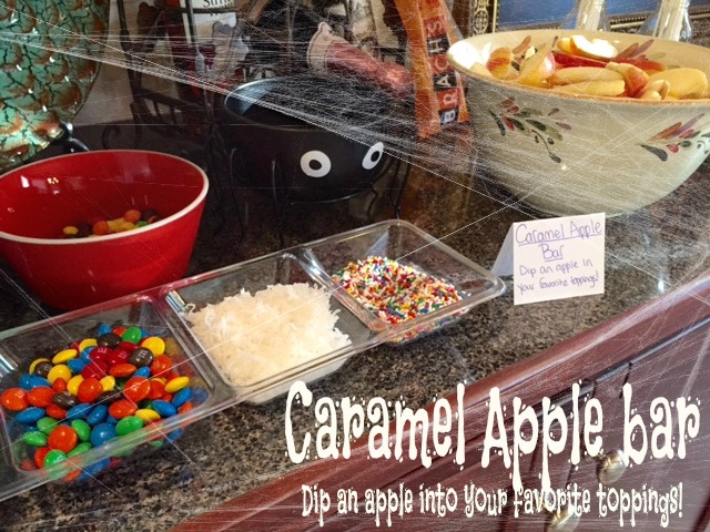 caramel apple bar, use this