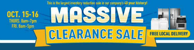 clearance sale 2015