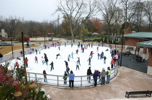 ice rink at lawrence plaza
