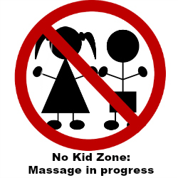 no kid zone massage