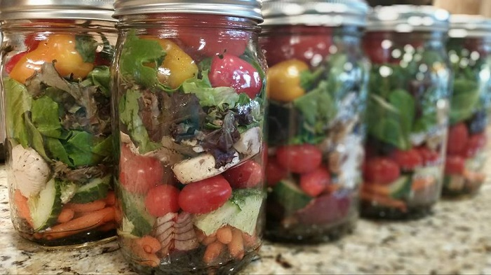 Salad shot, beverly's weekly salads