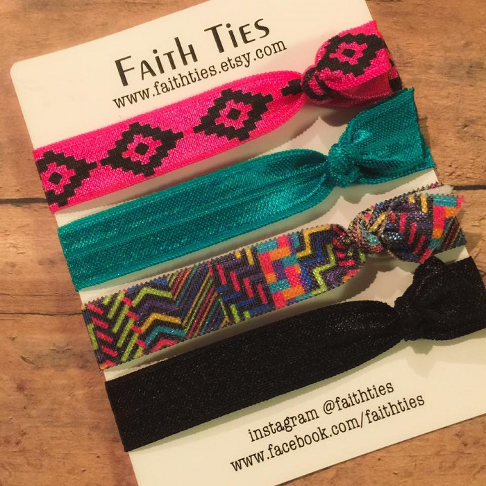 faith ties, colorful