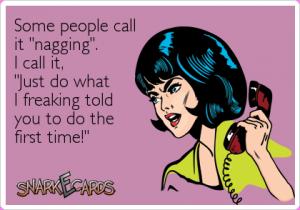 nagging cartoon