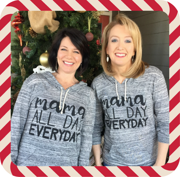 Mamas all day shirts candy cane border600