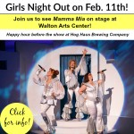 Mamma Mia Girls Night Out reminder