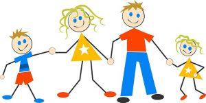 cartoon family stick figure