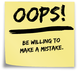 mistake post it note