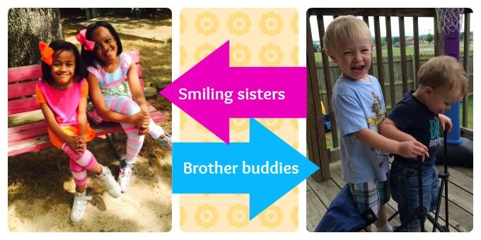brother sister collage