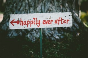 happily ever after married sign