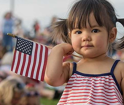 Girl with Flag, event at the AMP
