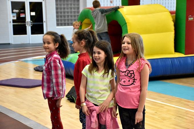 Kids having fun at The Jones Center, cropped