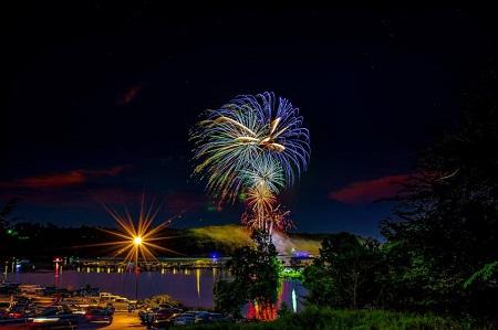 Prairie Creek Marina fireworks