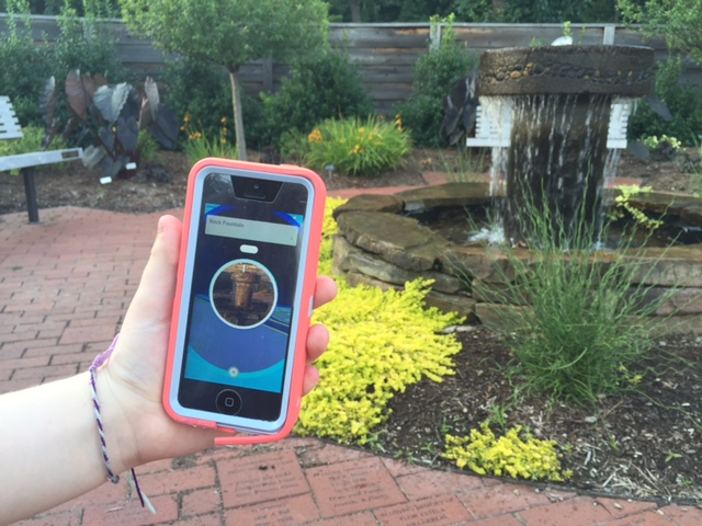 Pokestop, fountain