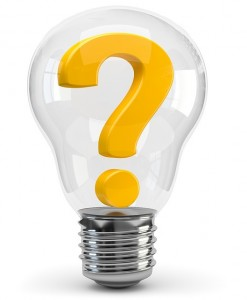 question light bulb