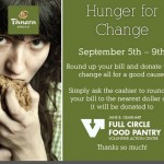 Hunger for Change at Panera Bread, Sept. 5-9