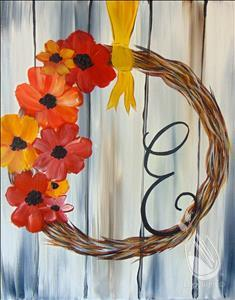 rustic-wreath painting with a twist northwest arkansas