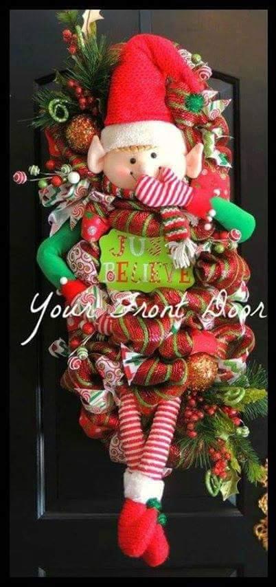 Cute elf wreath from Your Front Door