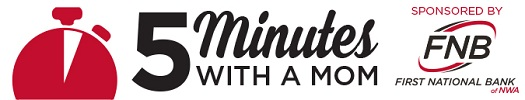 5 Minutes with a Mom logo 2017, FNBNWA 525